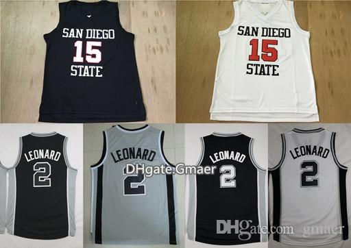 212591aa81a4 ... san diego state aztecs leonard college basketball jerseys 15 kawhi  leonard 2 shirts red white cheap