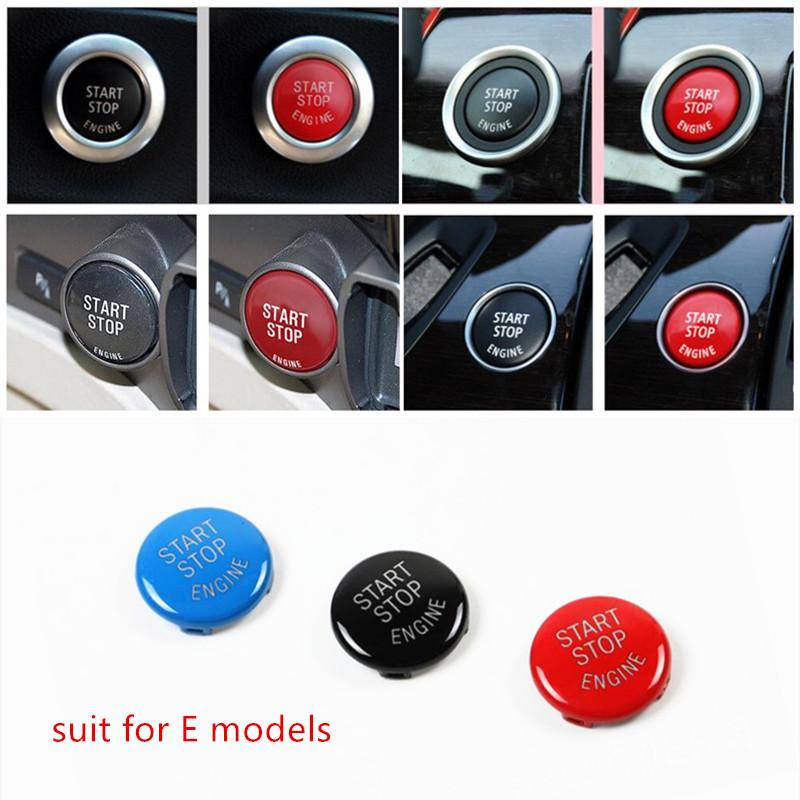 For BMW E90 E60 E70 E71 E84 Engine Start Stop Ring Keyless Start System Button Cover Trim Replace type A start button Decoration