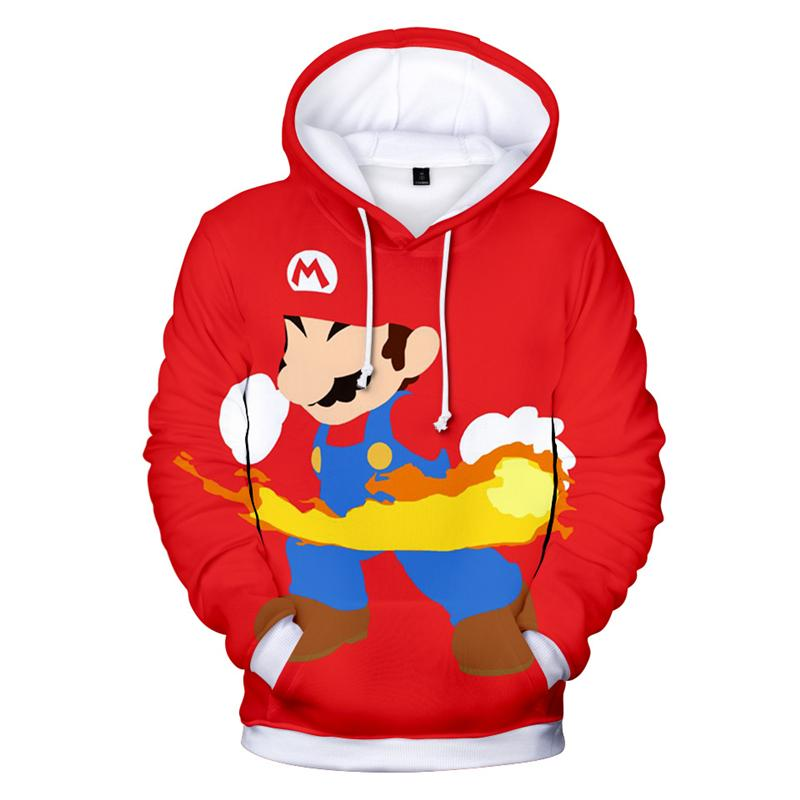 90115a48d Compre Homens Harajuku Mulheres Jogo Super Mario Bros Hoodie Outono Inverno  Dos Homens Personagens De Desenho Animado Impressão Completa 3d Moletom Com  ...