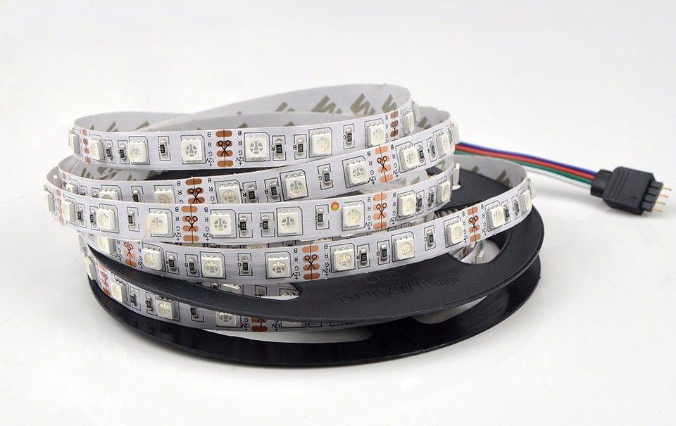 IP 20 not waterproof 10M / 5M DC 12V 5050 SMD RGB LED Strip light 60leds / m Tape Ribbon + 44 Keys IR double Remote Control