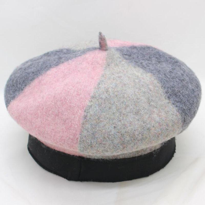 2e243b07fe8a8 BING YUAN HAO XUAN Women Beret Vogue Hat For Winter Female Knitted ...