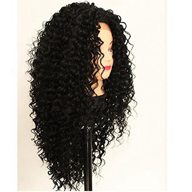 Grade 8A Volle Spitze Echthaar Perücken Verworrene Lockige mit Babyhaar 150% Dichte Peruanisches Reines Haar Lockige Perücke für Schwarze Frau
