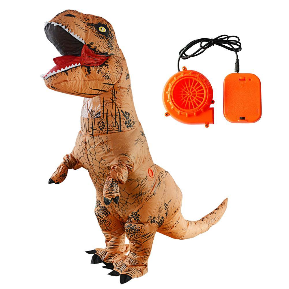 Adult T-REX Inflatable Costume Christmas Cosplay Dinosaur Animal Jumpsuit Halloween Costume Party Masks for Women Men