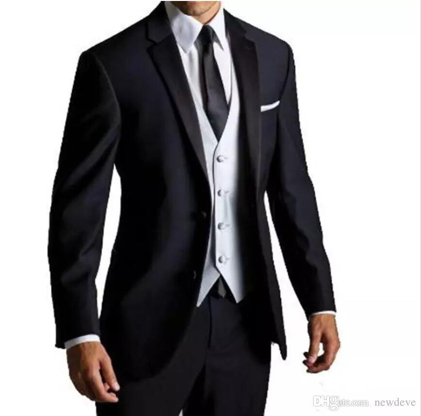 dd3d425db8 Compre Nuevo Traje De Hombre De Estilo Europeo Y Americano Caliente  Personalizado Vestido De Hombre De Caballero De Negocio Traje De Dos Piezas  Abrigo + ...