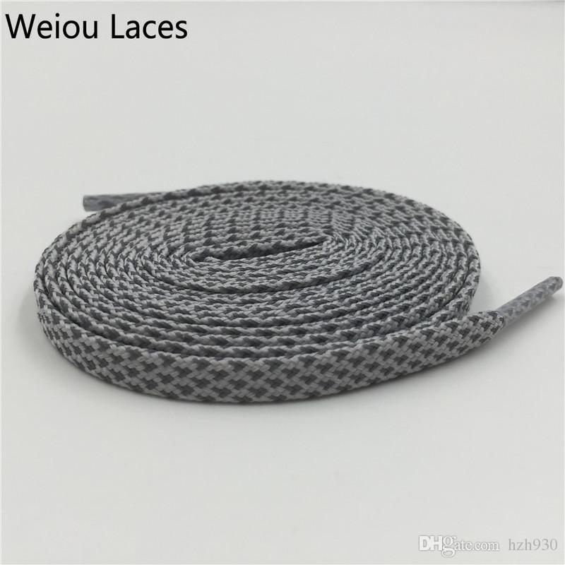 Weiou 3M Reflective Flat Shinning Shoelaces Fashion 90cm Shoe Strings For Kids Shoes Decoration Cheap Shoe Bootlaces For Sport Shoes