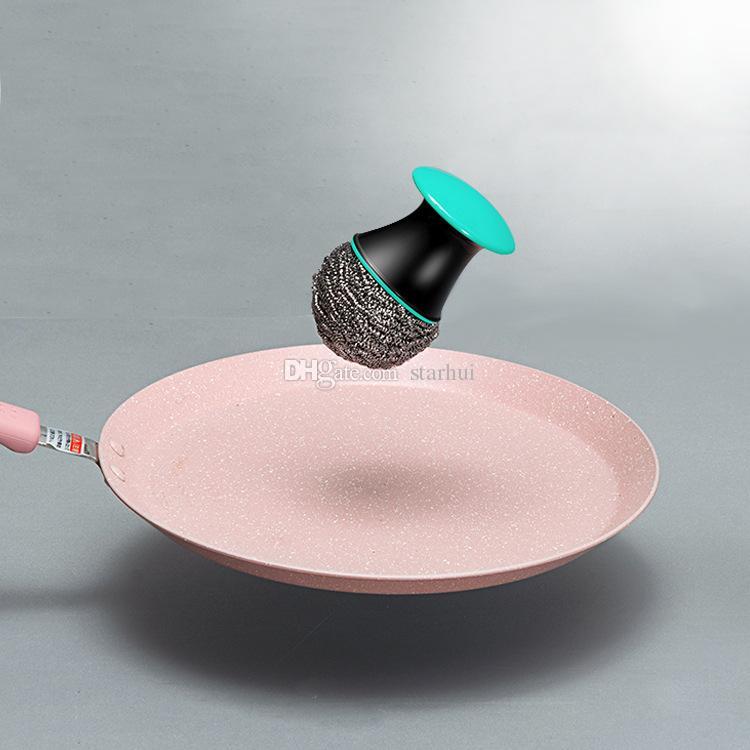 Neue Reinigungsbürsten Kreative Stahldraht Ball Pinsel Küche Waschen Pan Bowl Dish Pinsel Werkzeuge Edelstahl Reinigung Ball WX9-278