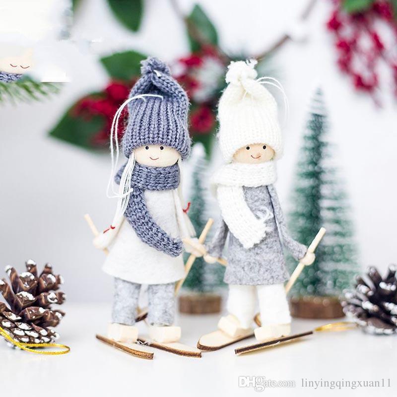 creative kawaii christmas angel girl ski pendant christmas tree decoration for home xmas doll party decoration kids gift christmas stuff christmas stuff for - Girl Stuff For Christmas