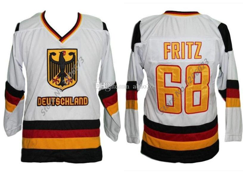 a404db896b8 2019 Team Germany White Fritz Retro Classic Ice Hockey Jersey Mens Stitched  Custom Any Number And Name Jerseys From Abao20