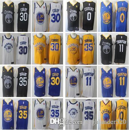 Men 2019 New Golden State Warriors 35 Kevin Durant 30 Stephen Curry 11 Klay  Thompson 0 DeMarcus Cousins 23 Draymond Green Basketball Jerseys Kevin  Durant ... d09821cf7