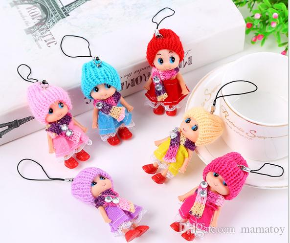 8cm Kids Toys Dolls Soft Interactive Baby Dolls Toy Mini Doll For Girls Mix