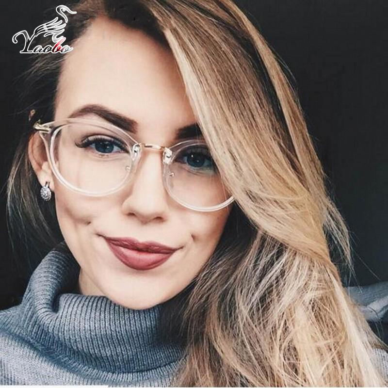 0e5ab17519 2019 Fashion Ladies Glasses Frame Men Eyeglasses Frame Retro Round Clear  Lens Glasses Brand Designer Men Original Clear Lens Eyewear From Harrieta