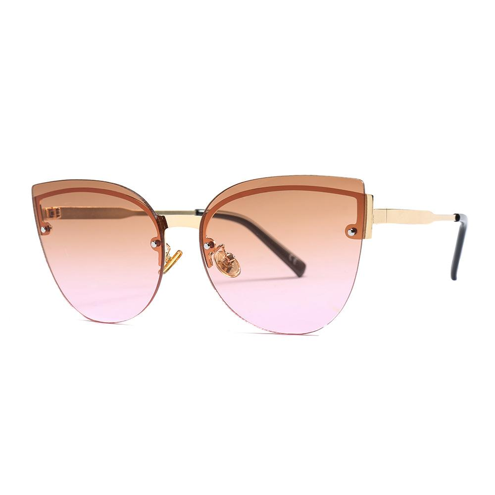 c45ab220409b New Style Cat Eye Sunglasses Fashion Half Frame Women Sun Glasses Retro  Gafas Vintage Eyewear UV400 Shades Oculos De Sol Sunglasses For Men  Prescription ...