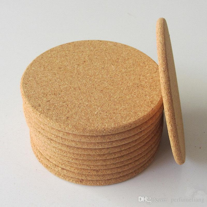 Classic Round Plain Cork Coasters Drink Wine Mats Cork Mats Drink Wine Mat 10cm Diameter For Wedding Party Gift ZA5628