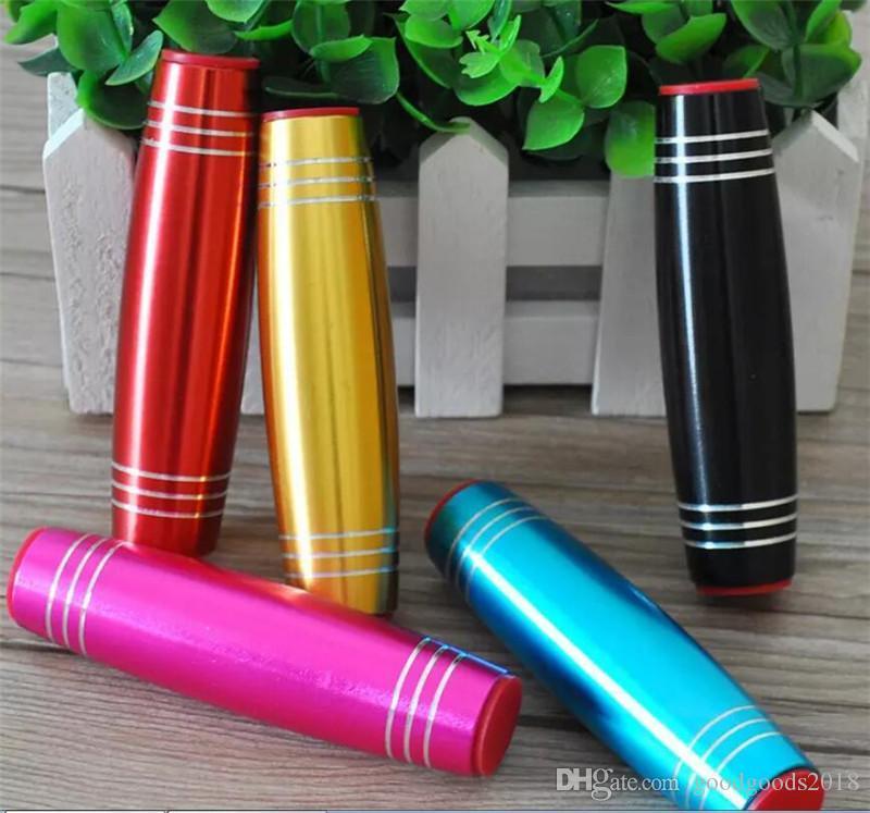 Zappeln Sie Spinner Legierung Flip Sticks Tabletop Rolling Stick Stressabbau Tumbling Dekompression Konzentration Trainer TO357
