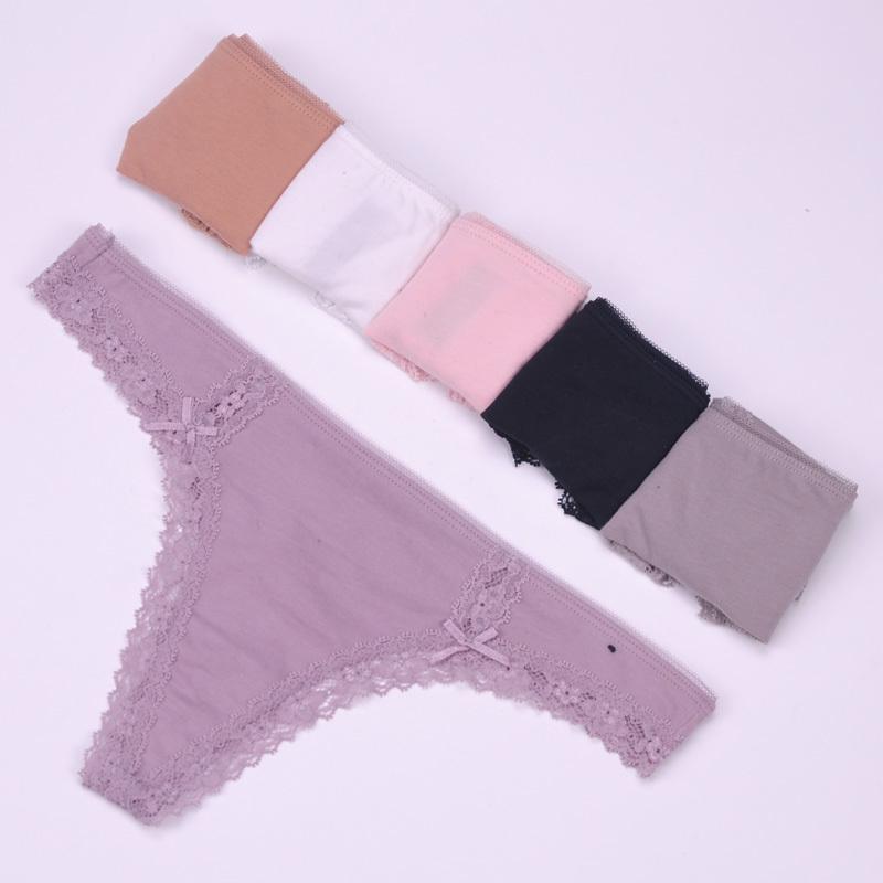 2e8e56d83619 Christmas Gift Cotton Snowflakes White Women's Sexy Thongs G-string ...