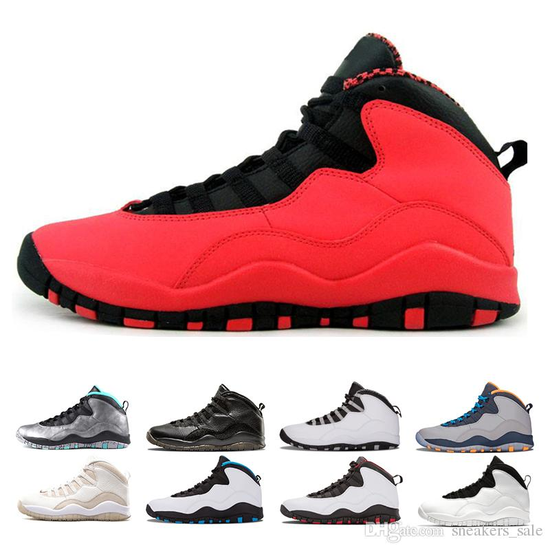 2f16397e1bbc84 2019 Top 1 10s GS Fusion Red I M Back Cool Grey Steel Grey Cement  Basketball Shoes Mens 10 Westbrook Chicago Bobcats Sports Athletic Sneakers  From ...