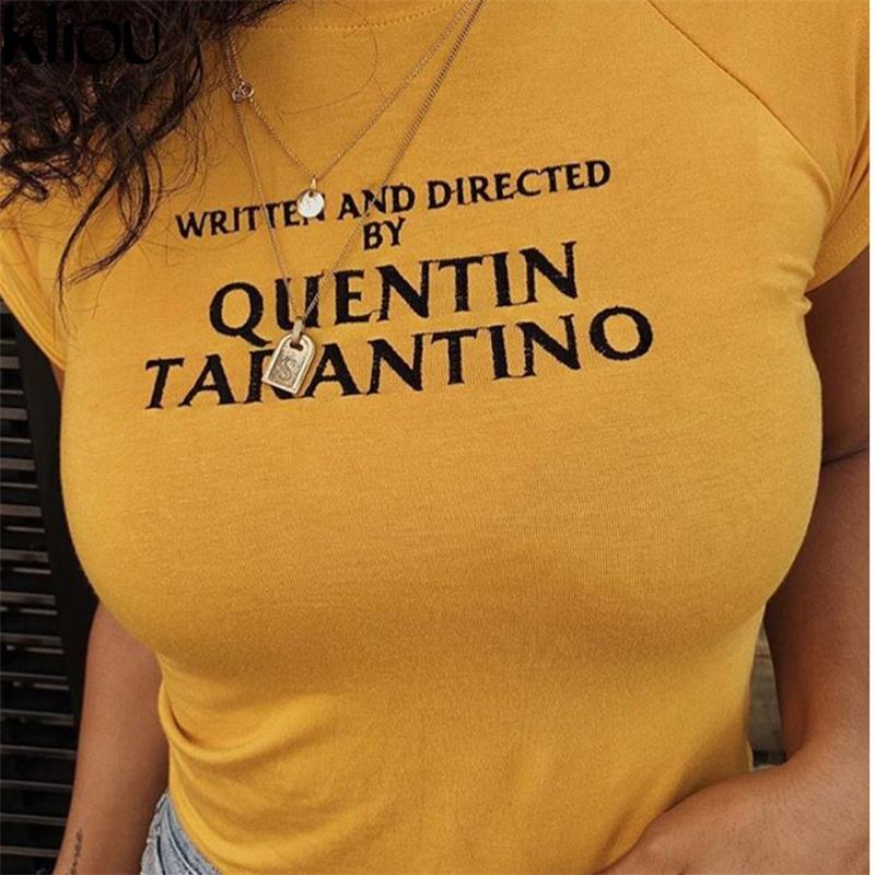 6697e7166 Kliou Ringer Tee Hipster Shirts Tumblr Graphic T-shirt Women Letter ...