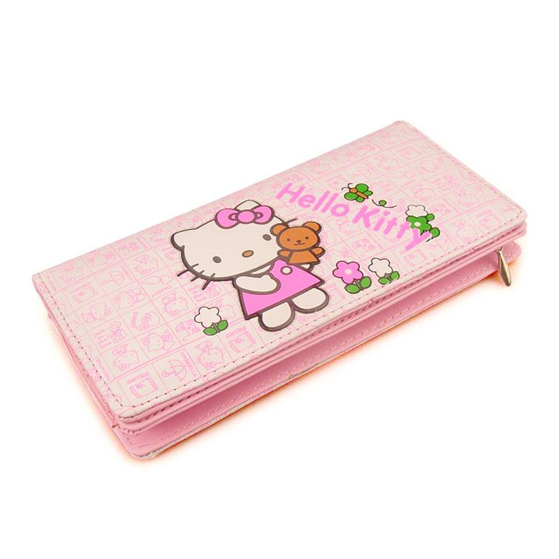 Girls HelloKitty Fresh Wallet Women PU Leather Purse Long Zipper Cartoon Ladies  Purse Money Card Holders Purses Pink Coin Wallet Play Purses For Toddlers  ... 50e3c2a22e2e8