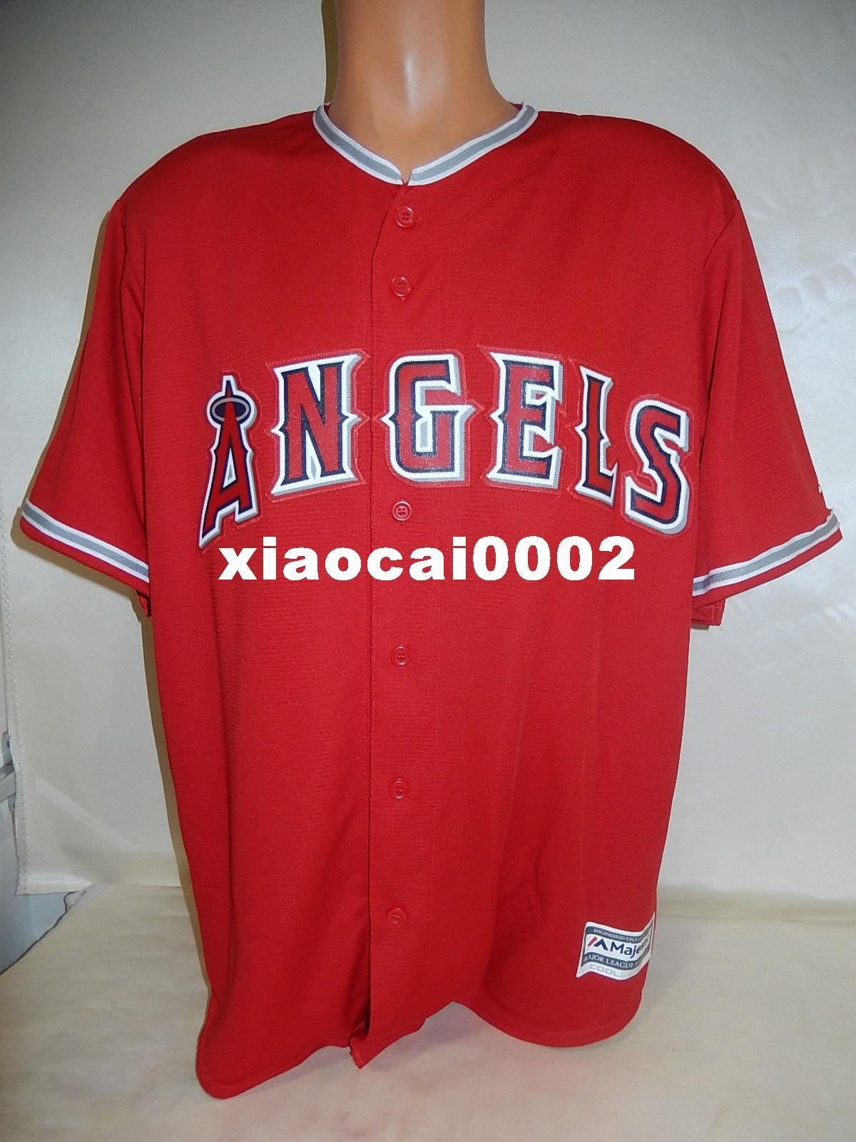 b7d5ea51adf Cheap Custom Majestic Top ANAHEIM Blank COOL BASE Baseball JERSEY ...