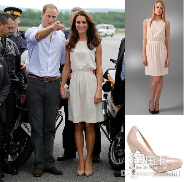 d1122cc3dcc7 Princess Kate Middleton Sleeveless One Piece Dress O Neck European Star  Slim 2018 Summer Newest Dress Tencel White Summer Dresses For Juniors Black  Dressed ...