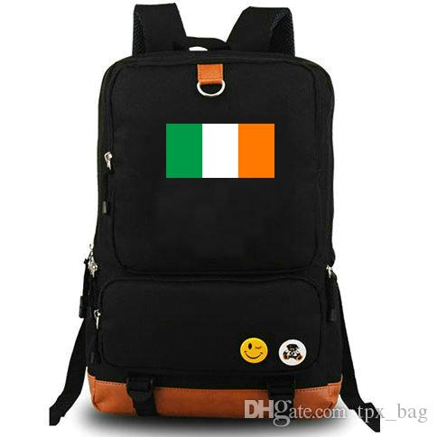 IRL Backpack Ireland Daypack Erse Happy Flag Schoolbag State Banner  Rucksack Canvas School Bag Outdoor Day Pack Back Pack Mochilas Jansport  From Tpx bag 92b853894319a