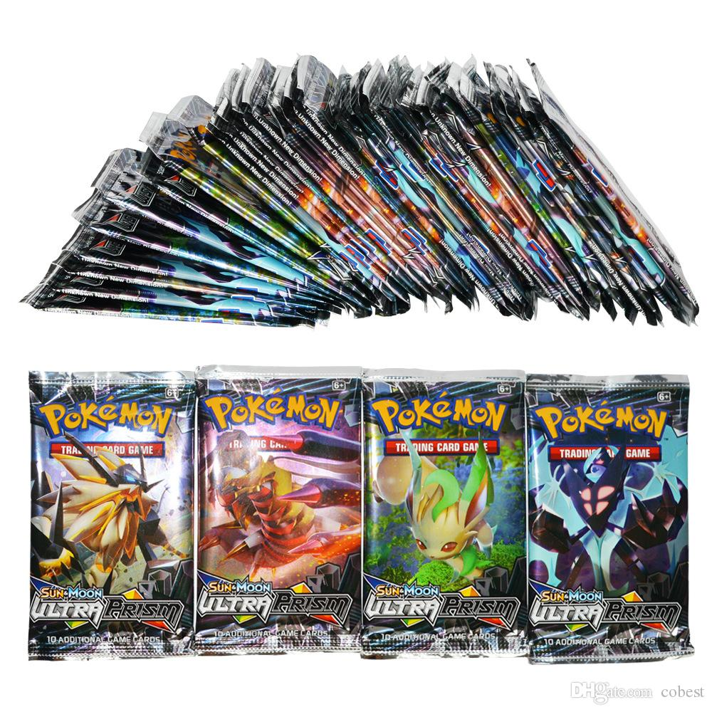 Poket Monster Playing Trading Cards Games 4 Styles English Edition Anime Pocket Monsters Cards Kids Toys