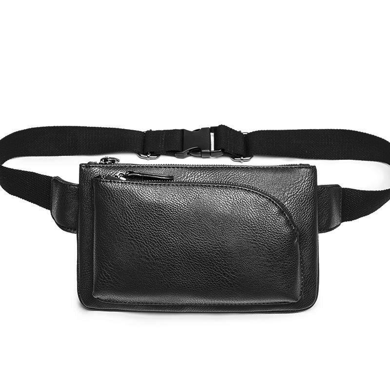 b111a0bb9a8 Belt Bag Waist Men Casual Fanny Pack Black Waist Packs For Women Waterproof  Leather High Quality 2018 New Travel Chest Bag Male Side Bags Handbag Sale  From ...