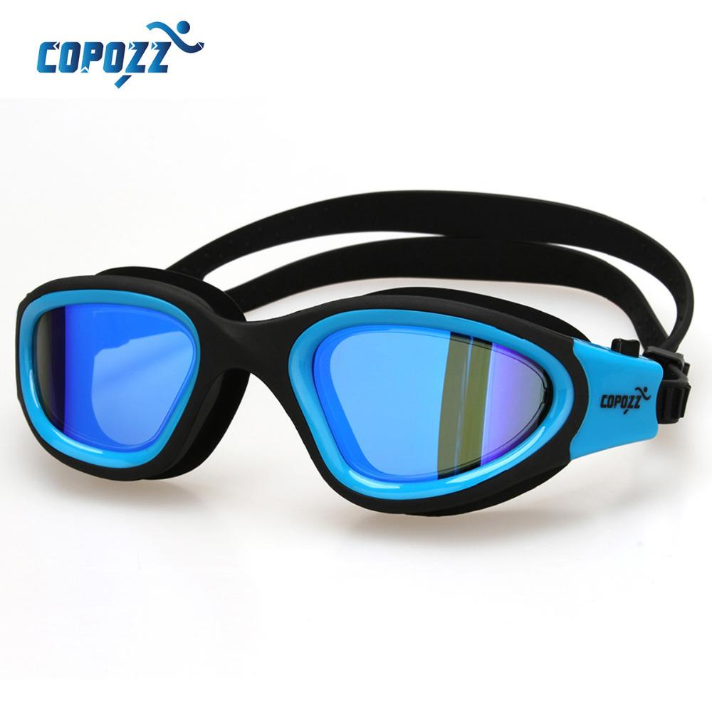3fc23770d75b 2019 Copozz Swimming Goggles Anti Fog Men Women Waterproof Comfortable  Silicone Glasses Adult Plating Eyewear From Jersey168