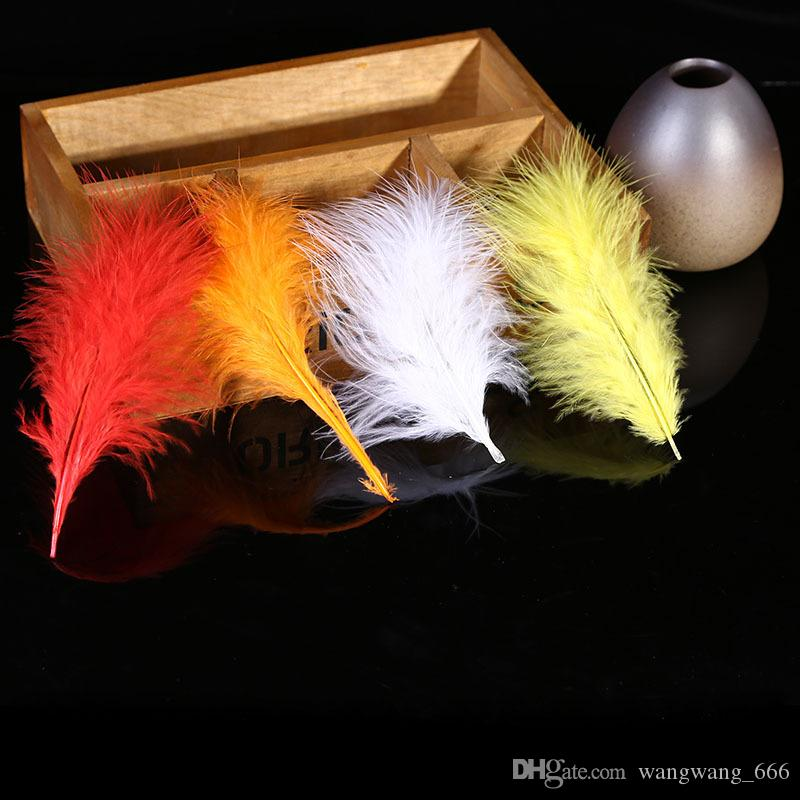 4-6inches 10-15cm Beautiful Loose Marabou Feathers Colors Turkey Feathers for Wedding Carnival Samba Decoration