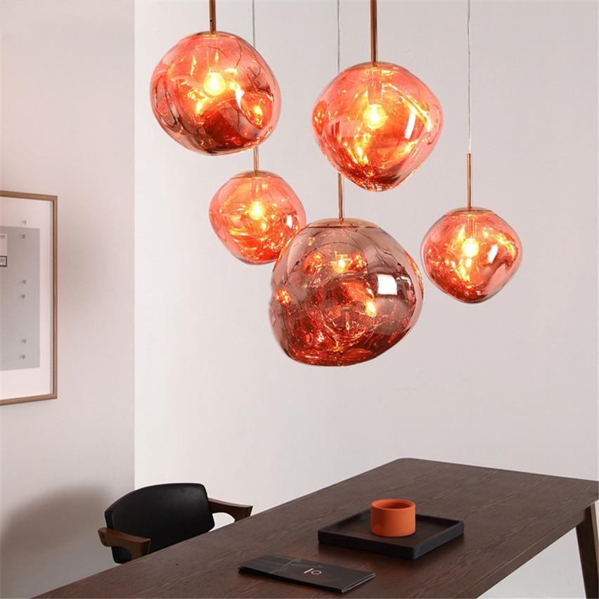 best service 9c717 075da Factory wholesale high quality Post-modern Tom DIXON Melt Pendant Lights  Glass Lava Bedroom Home Lighting