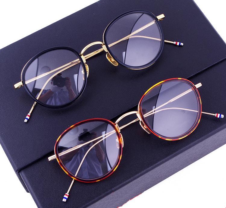 06f51c47a26b9 Compre 2018 Moda Vintage Mulheres Homens Óculos De Armação Thom Marca  Clássico Rodada Óculos De Armação Prescrição Feminina Eyewear De Oculos De  Sunshine023 ...