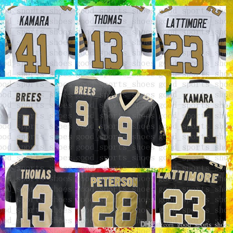 8648a2cc7cc ... italy 2019 top sale 9 drew brees jersey new orleans saints mens 41 alvin  kamara 23
