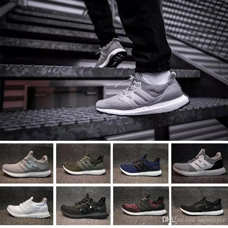 22817830658fc 2019 Best Originals Ultra Boost 4.0 Knit New Running Shoes Hot Sell Men  Women Breathable Black Grey Blue Boots Sport Sneakers 36 45 From Missroger