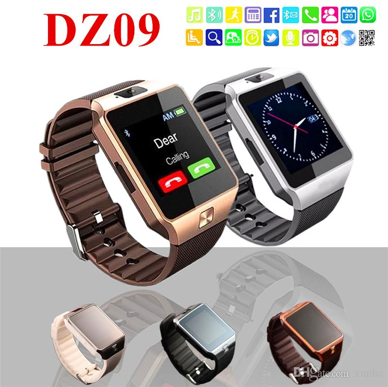 2018 Hot Selling DZ09 Smart Watch Support TF/Sim Card Watch with Camera Intelligent Bluetooth Wristwatch for Smart Phone with Retail Box