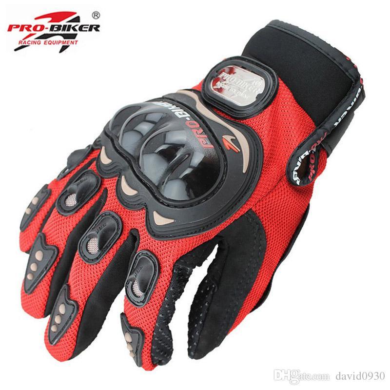 38ab08de PRO-BIKER guantes de montar en moto de verano pantalla táctil guantes de  moto caballero dejar guantes fuera de carretera hombres mujeres MCS-01C