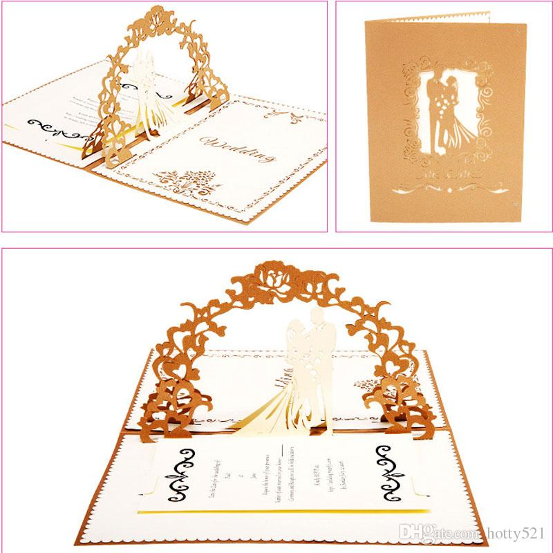 Hot sale new folded wedding invitations cards with envelope greeting hot sale new folded wedding invitations cards with envelope greeting 3d hollow paper love card decoration invitation greeting cards online with 241piece stopboris Choice Image