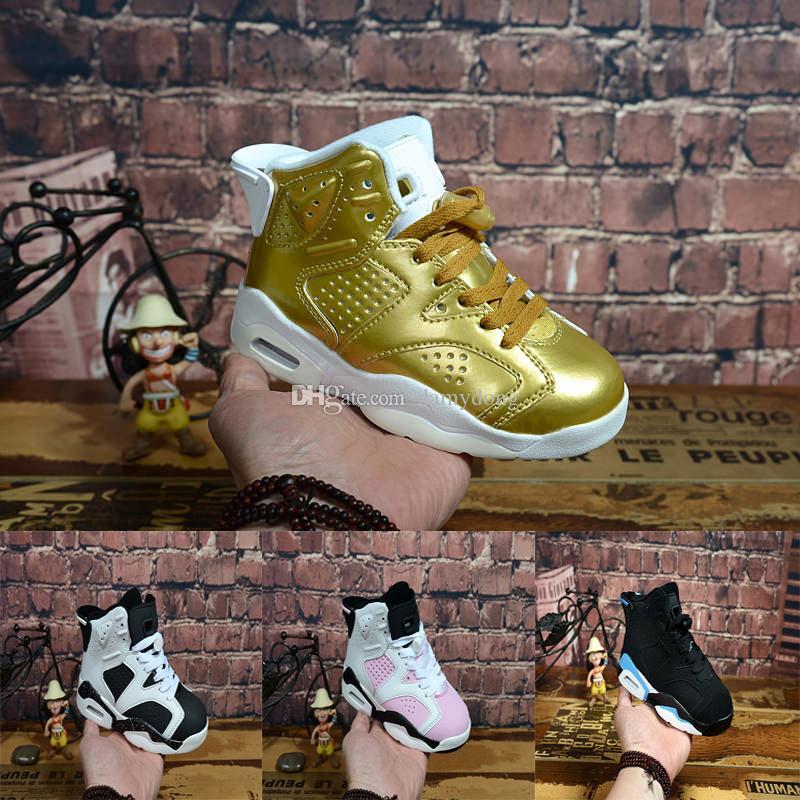 sale retailer d78d4 3b0ad Großhandel Nike Air Jordan 6 12 13 Retro Neue Kinder 11 Xi Basketballschuhe  Athletisch Weiß Rot 9 Farben Sportschuhe Für Jungen Mädchen Niedrige  Sneakers ...