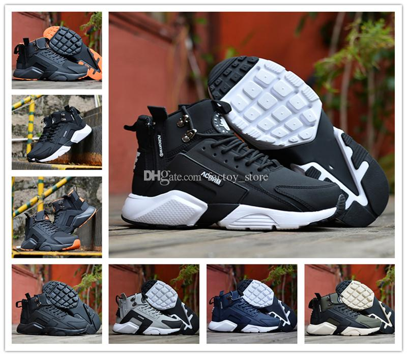 571e1d0789c57 2018 New Air Huarache 6 X Acronym City MID Leather High Top Huaraches  Running Shoes Men Women Huraches Sneakers Hurache Zapatos Size 7 11  Stability Running ...