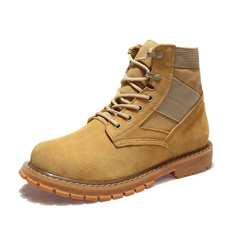 ae4c02907 Hommes Randonnée Bottes Soldats Desert Bottes de Combat Extérieure  Chaussures Bottes Wearable Hiver Chaud Occasionnel Chaussures En Cuir  Peluche ...
