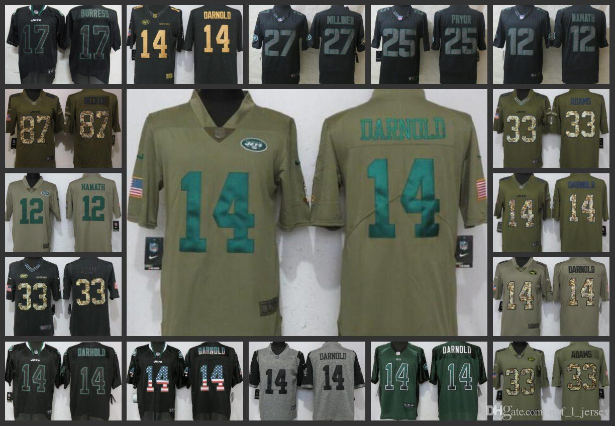 New York Jets Embroidery Man Jersey  12 Joe Namath 14 Sam Darnold 33 Jamal  Adams 25 Pryor Women Youth Football Jerseys Online with  27.22 Piece on ... de949e0c3