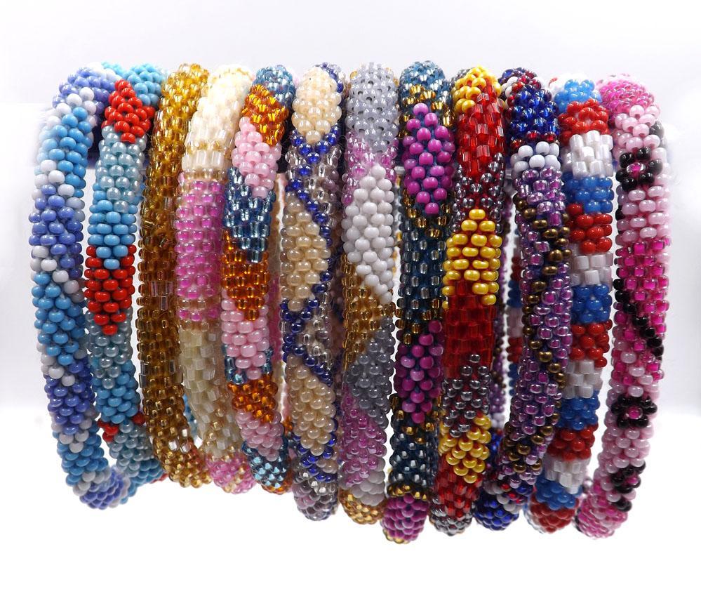 2018 2015 Fashionable Handmade Nepal Glass Beaded Bracelets