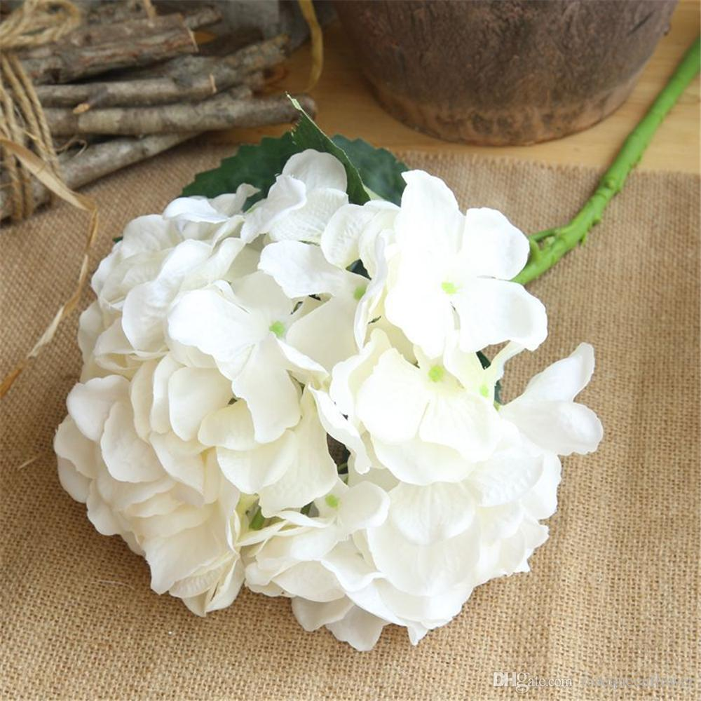 2018 artificial flowers cheap silk hydrangea bride bouquet wedding 2018 artificial flowers cheap silk hydrangea bride bouquet wedding home new year decoration accessories for vase flower arrangement from rosequeenflower izmirmasajfo