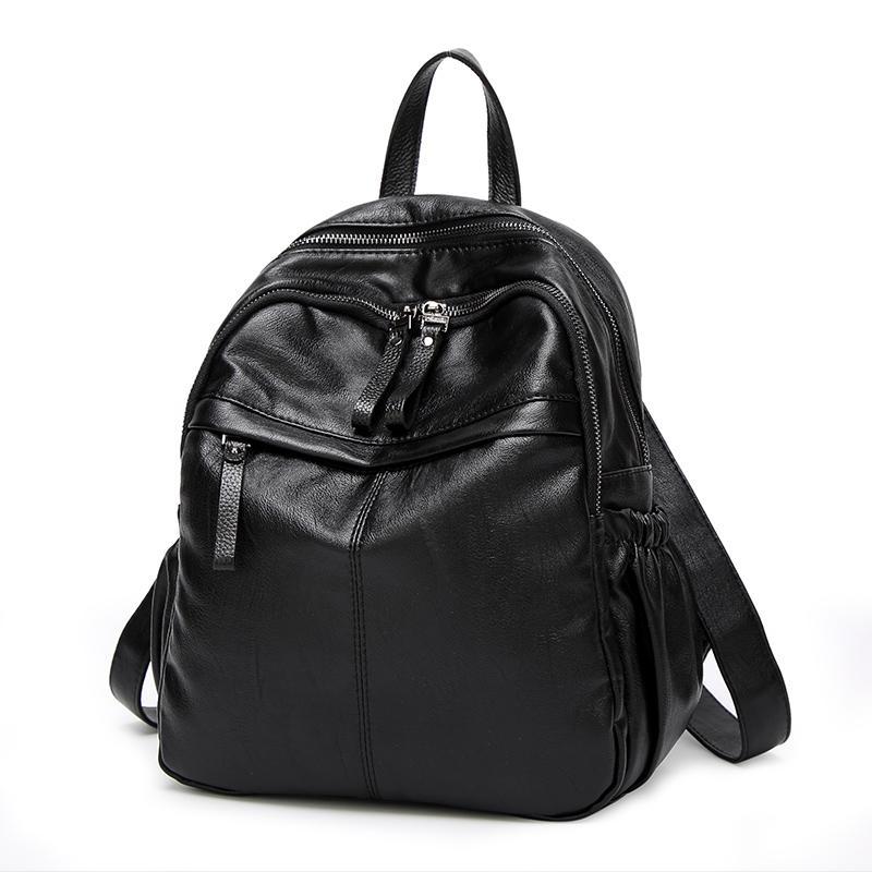 6c0aba3fda5 Wholesale Luxury Brand Designer Women Bags 2017 Genuine Leather Kanken  Backpack Large Capacity Preppy Style Lady Shoulder Travel Bags N061 Hunting  Backpacks ...