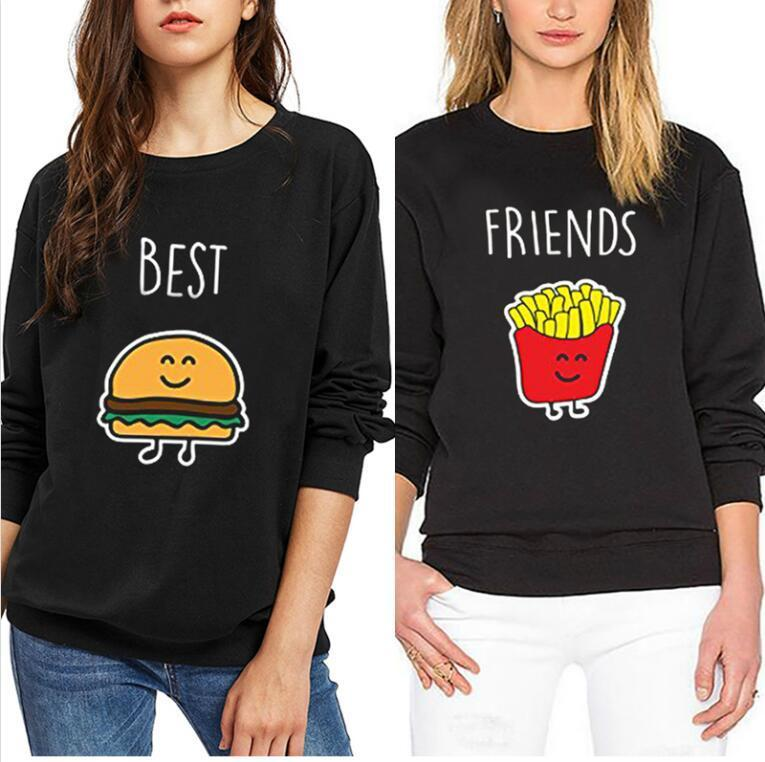 Acquista Bbf Burger Best Friend French Felpa Donna Fries