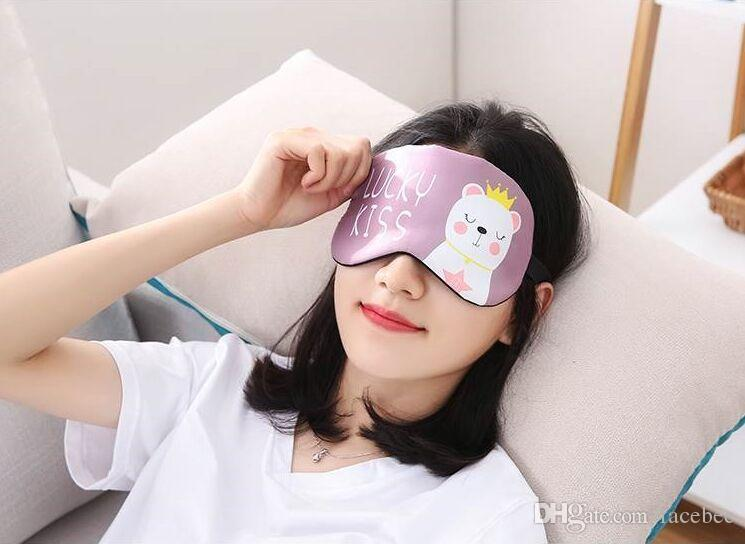 New Massage Relax Eye Sleeping Aid Blindfold Cover Eyeshade Eye Patch Cute Penguin Bear Monkey Tower Flamingos Sleeping Mask Zzh Black Sleep Mask Boots