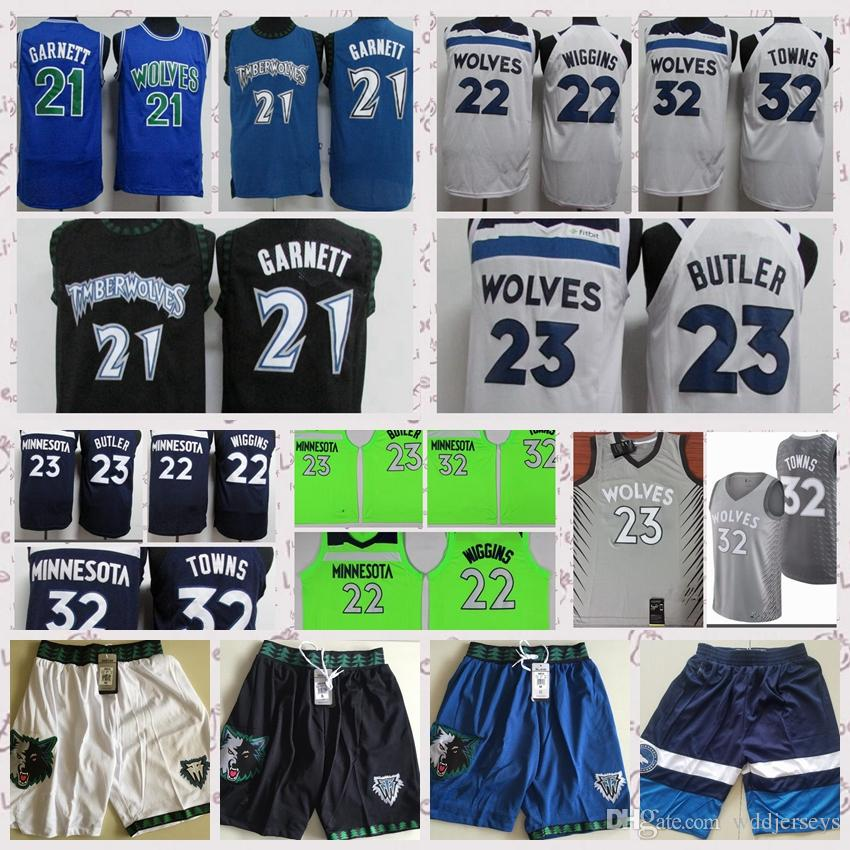 official photos 5fede 12d50 23 Jimmy Butler jerseys 32 Karl-Anthony Towns jersey 22 Andrew Wiggins  jersey 5 Kevin garnett Basketball Swingman Free Shipping High-quality