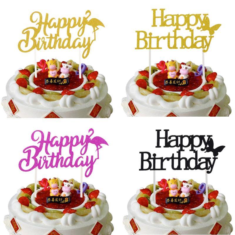 Grosshandel 1 Stuck Kuchen Topper Alles Gute Zum Geburtstag Flamingo