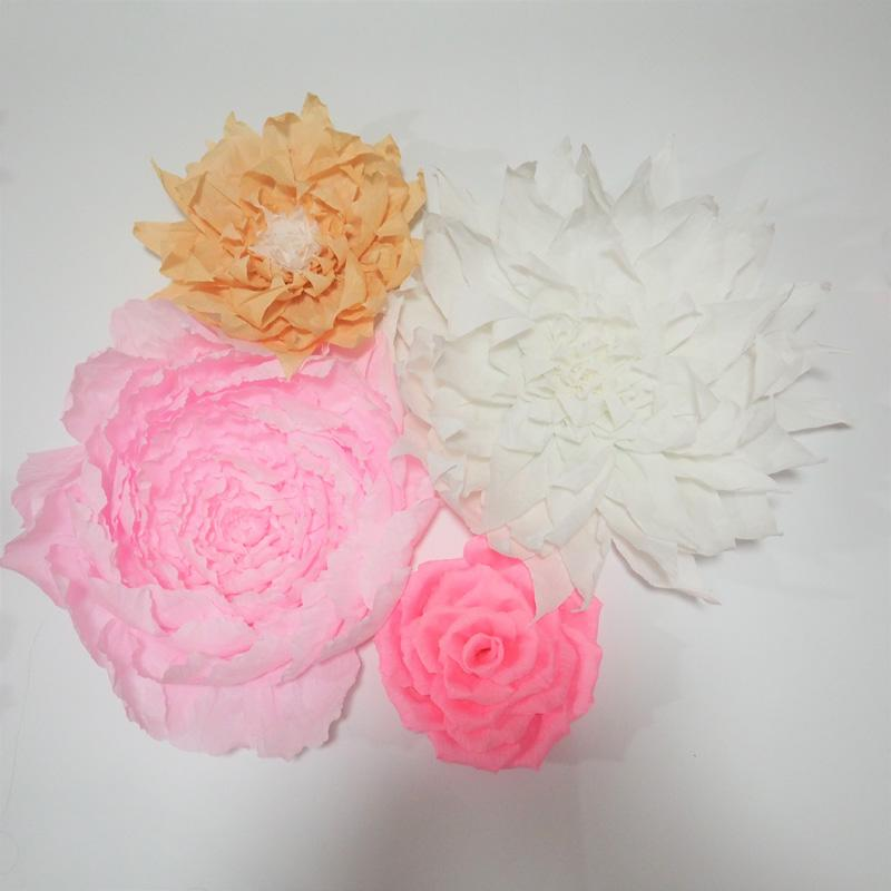 Giant Crepe Paper Flowers For Wedding Event Backdrop Decor Baby