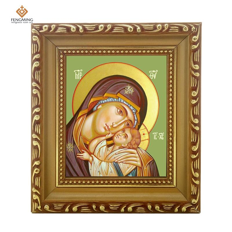 Photo Frame Russian Orthodox Church Lcon of Virgin Mary And Jesus ...