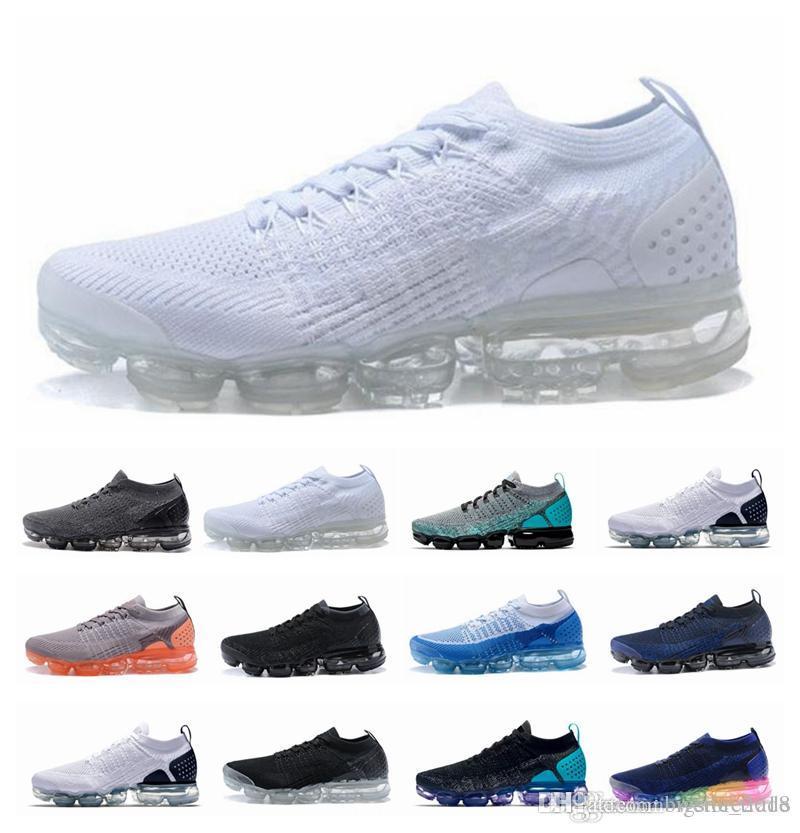 buy popular b8138 8efb0 Compre 2018 Vapormax 2.0 Zapatos Triple Blanco Negro Rojo Oreo Zapatillas  Deportivas Deportivas Para Hombres Zapatillas Deportivas Zapatillas De  Diseño ...
